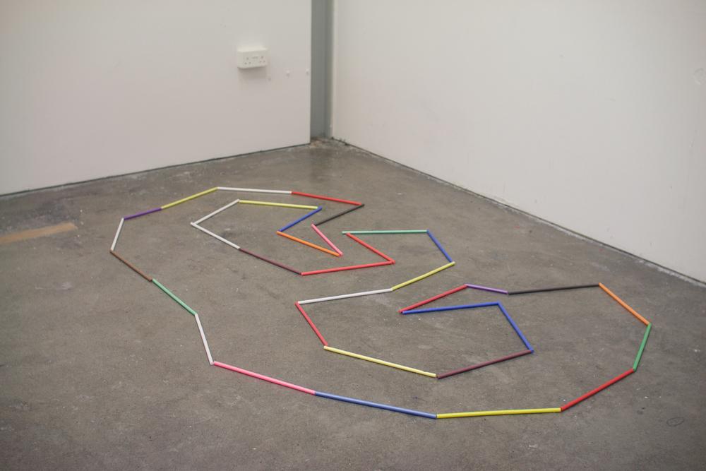 Spin A Pinwheel, mixed media installation, 2016