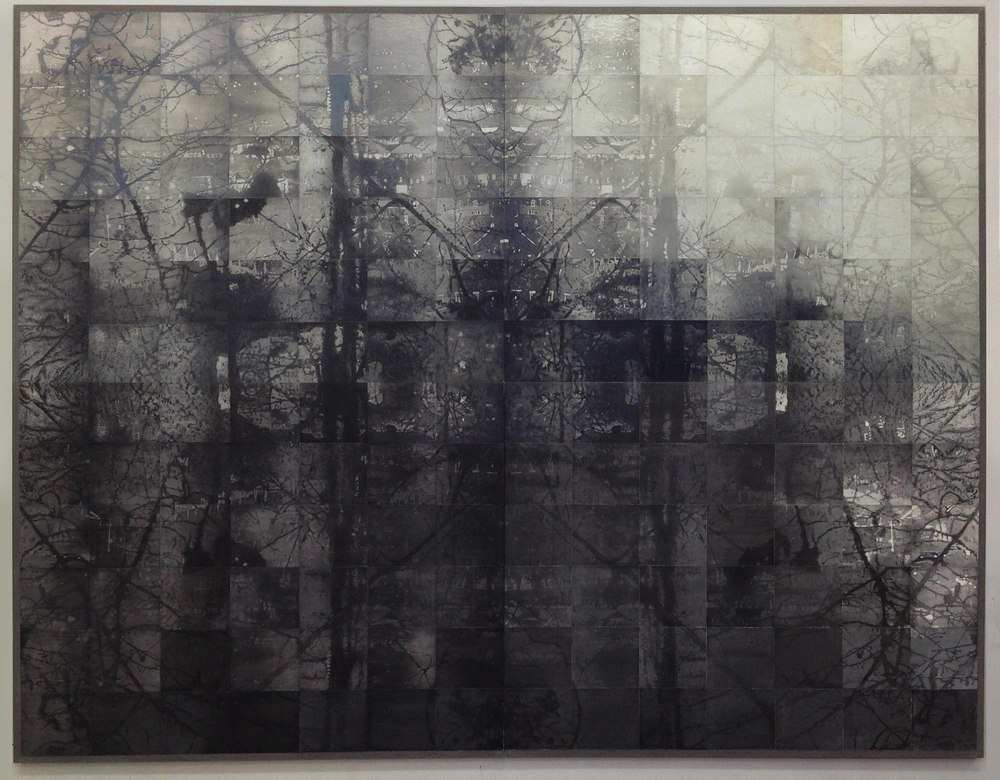'BLIND', 2014, 168 Hand coloured copper plate etchings on graphite, paper & linen, 280 x 240cm