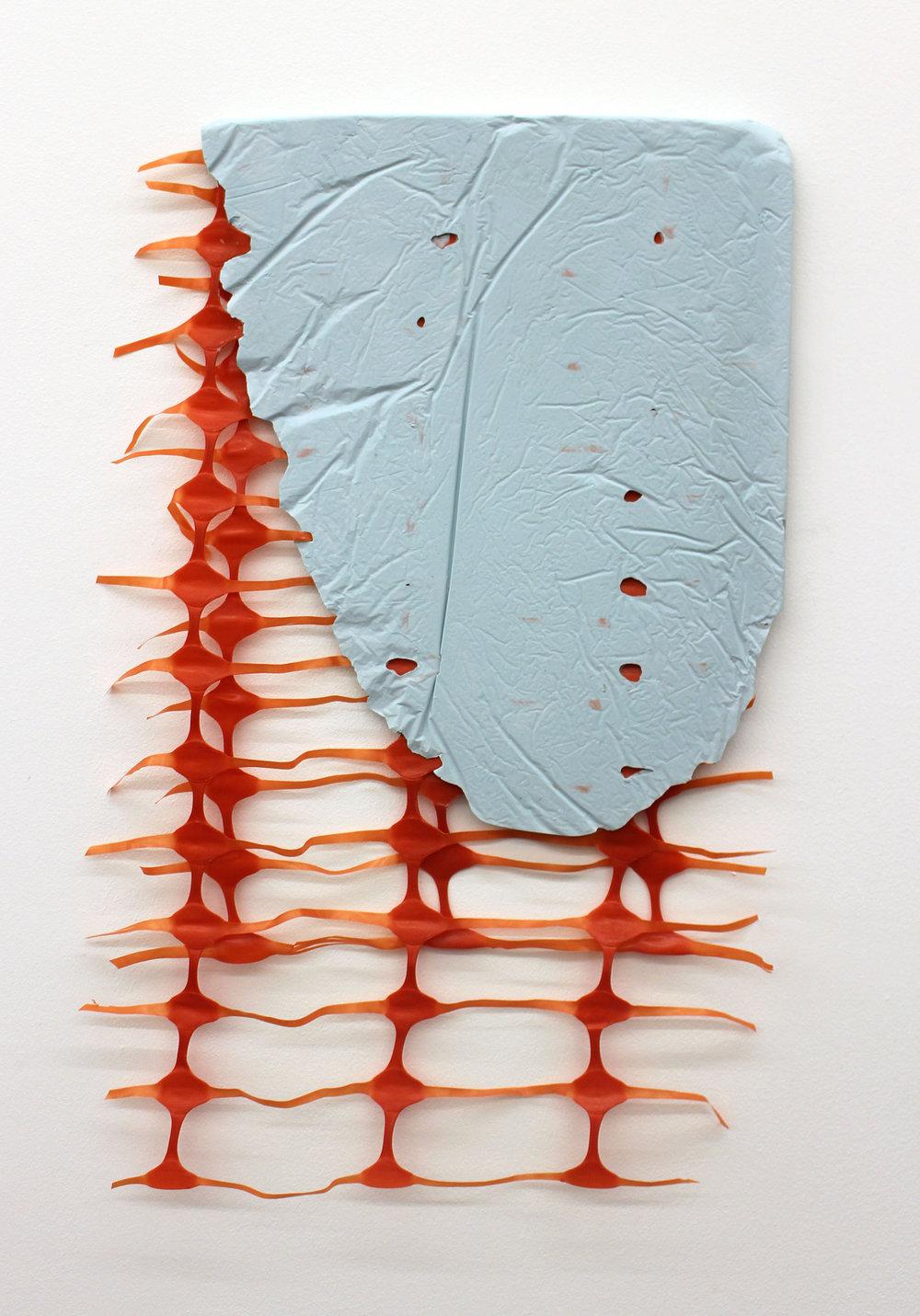 untitled fragment (blue,orange), 2016