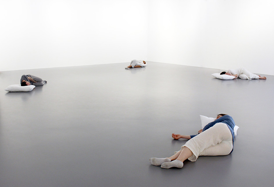 Sleep, performance, Nahmad Projects, 2016
