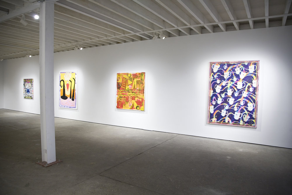 Exhibition view of The Rude Gesture, Unit 1 Gallery, 2016