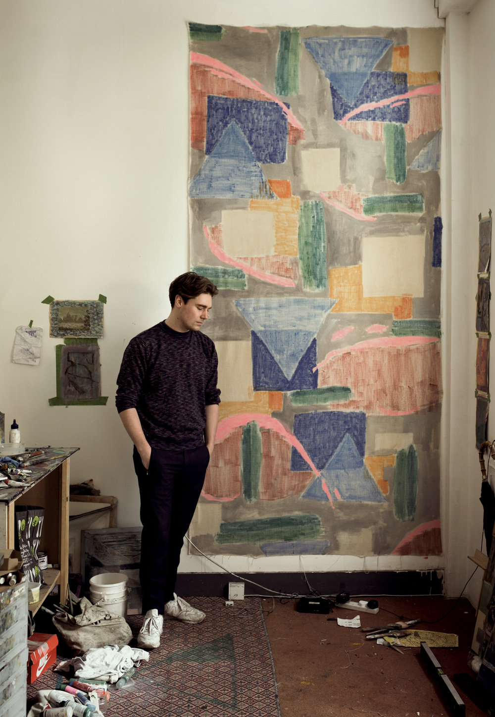 Anthony Banks at his studio
