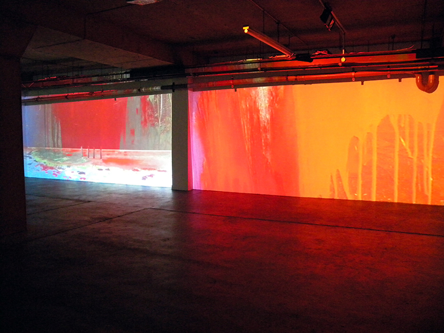 Ultranomadic def smith cycle. Video installation, 2012 at Block 336 gallery