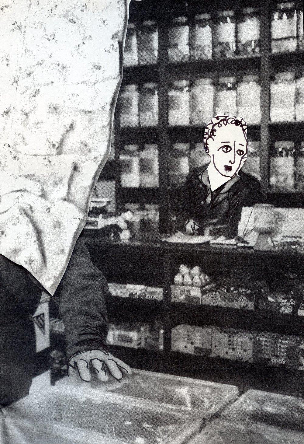 Nostalgic shopkeeper, 2016