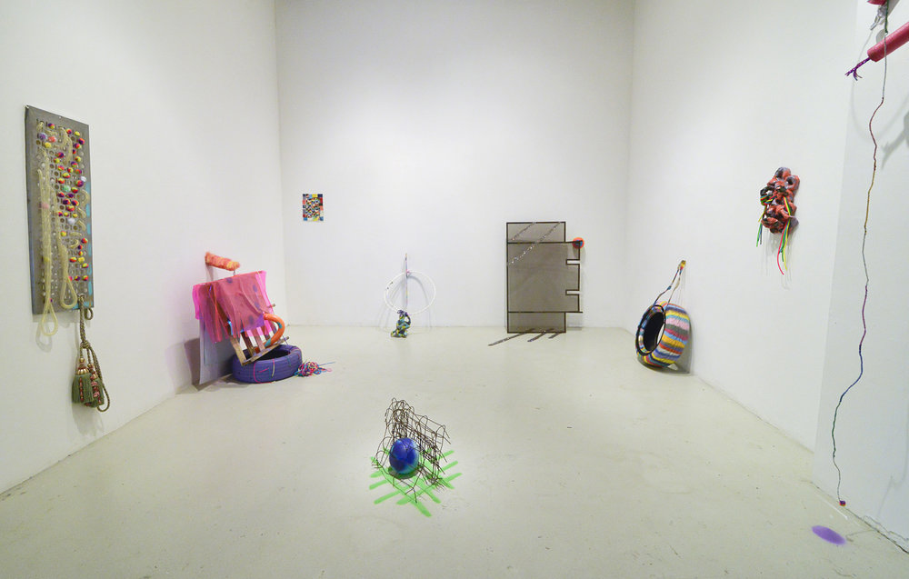 "Installation view of individual exhibition at Cuchifritos Gallery in 2016. New York, NY. Title of the exhibition: ""DelanceyLudlowRivingtonNorfolk"". Photo credits: Bill Massey."