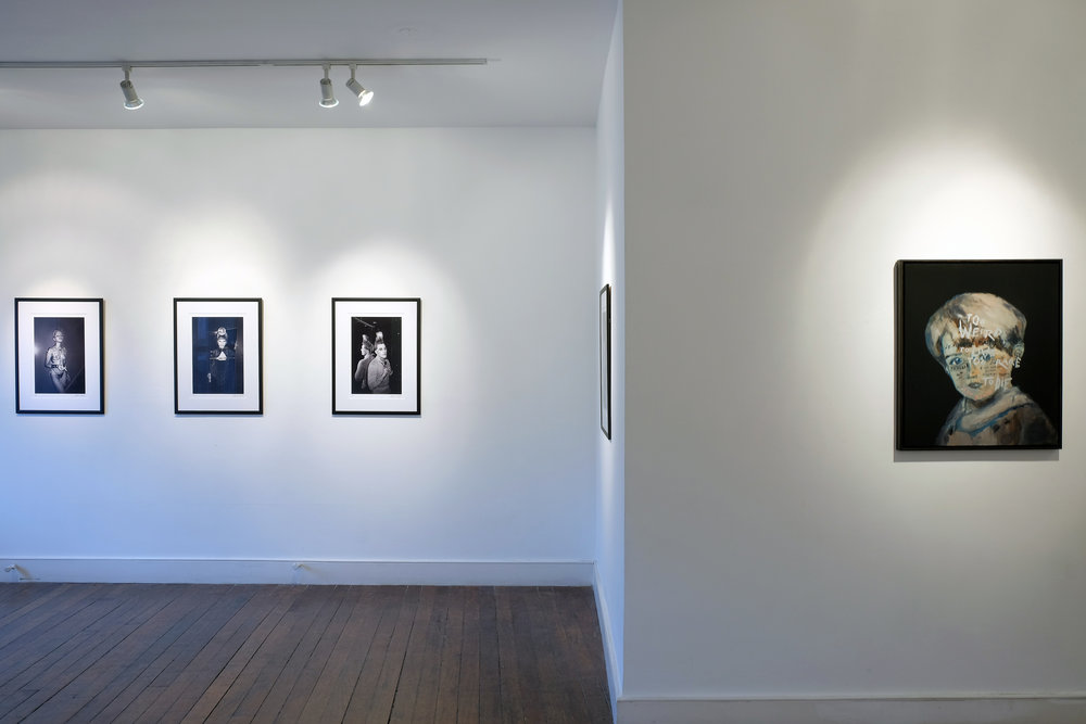 Install shot at CHARLIE SMITH LONDON, featuring Derek Ridgers and Sam Jackson