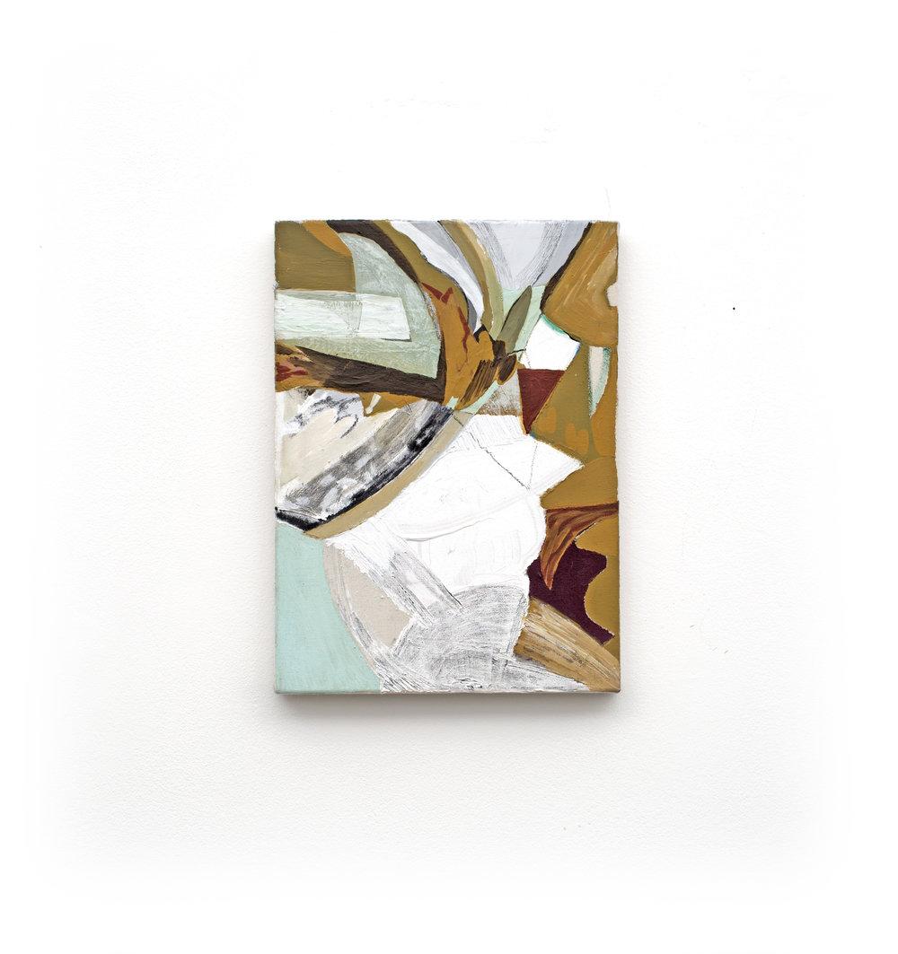 Kar, acrylic on canvas 26 x 36 cm 2018