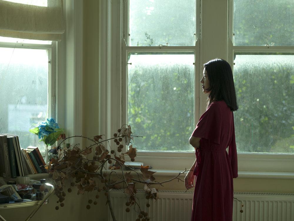Uchercie Tang in her studio