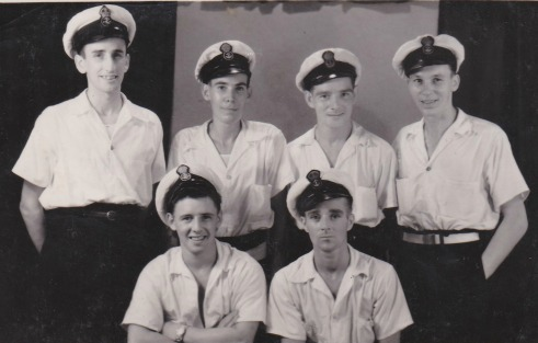 HMS Bulolo petty officers (maybe)
