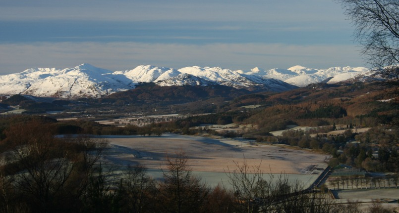 Looking west from the Knock Hill, Crieff