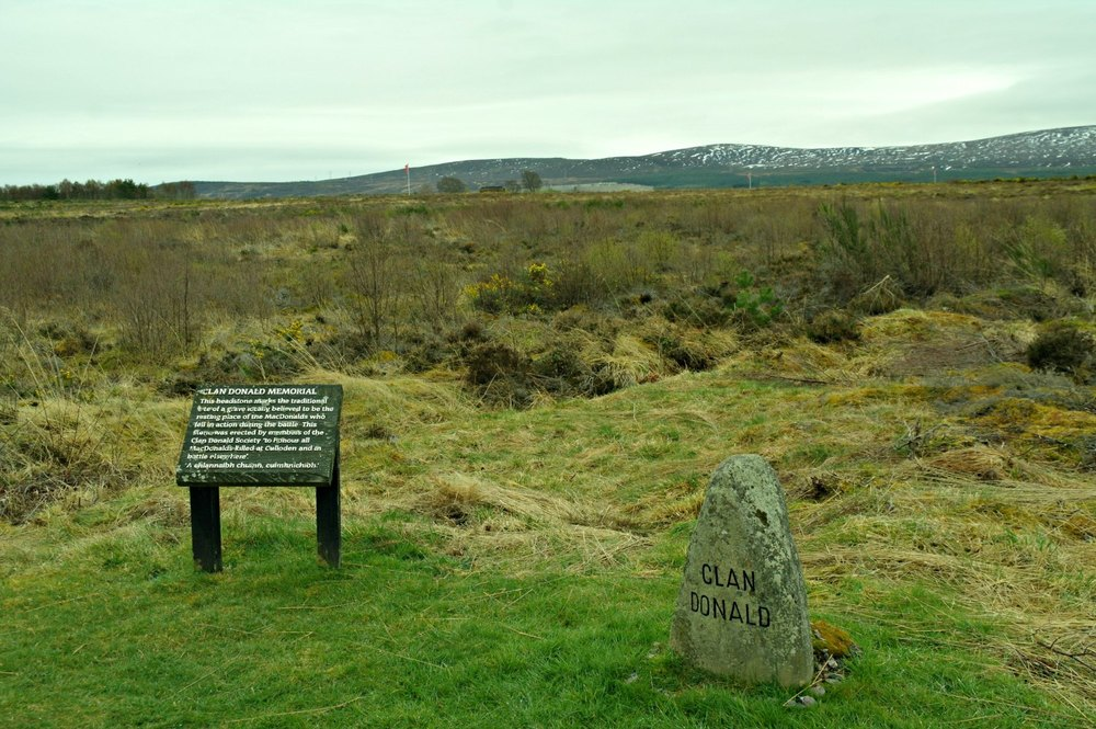 The Clan Donald grave marker. Johanna's maternal ancestors are from the this clan.