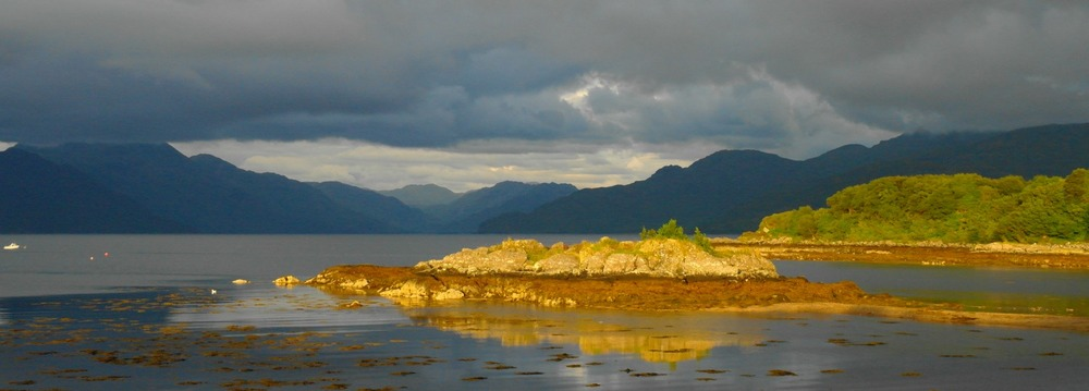 View from Camus Cross, Skye, eastward to the mainland