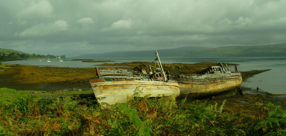 Abandoned fishing boats, Salen, isle of Mull.
