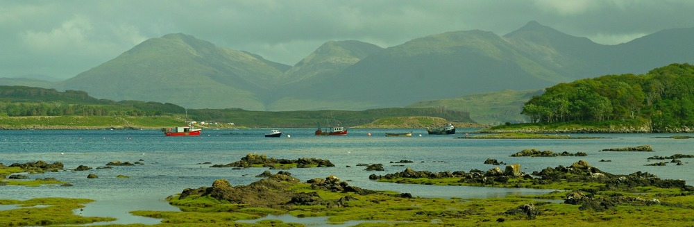 The hills of Mull from Ulva.
