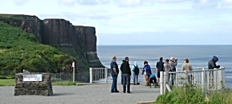 KIlt Rock, a famous geological landmark on the Isle of Skye
