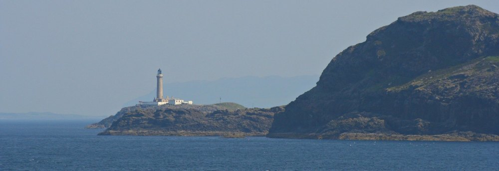 Ardnamurchan Point from the sea. (Actually, the Oban to Lochboisdale  Ferry.)