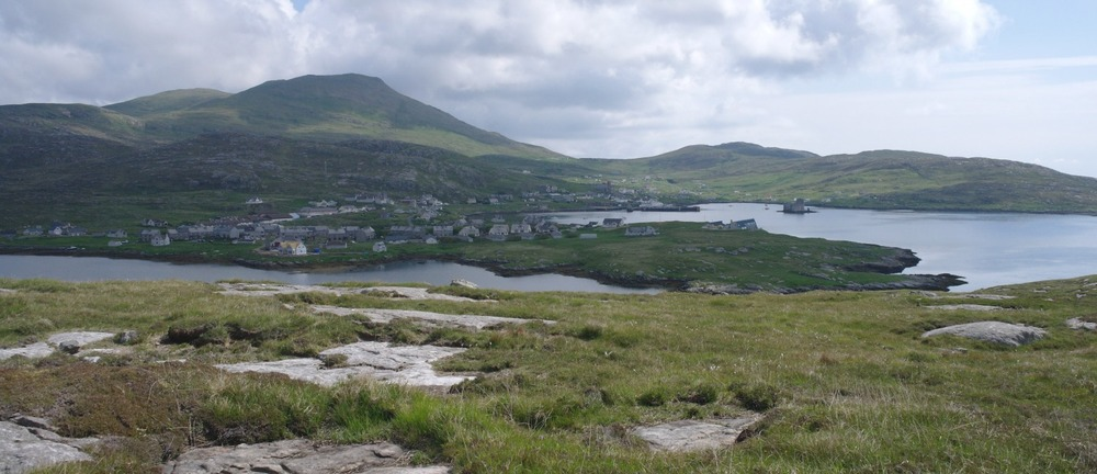Castlebay from the Vatersay Road