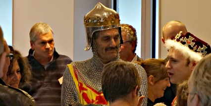Robert the Bruce works the room