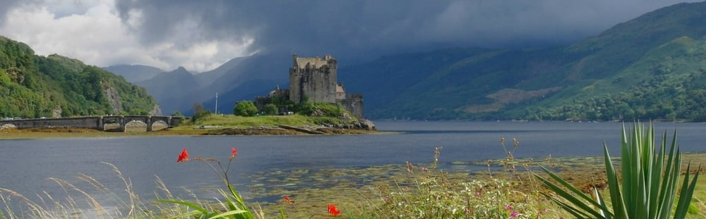 Eilean Donan looks ancient – but is fully restored after it was destroyed in a Jacobite Uprising.
