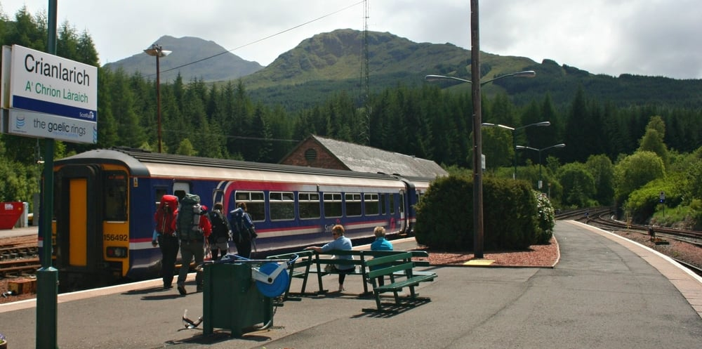 Crianlarich Station, looking south