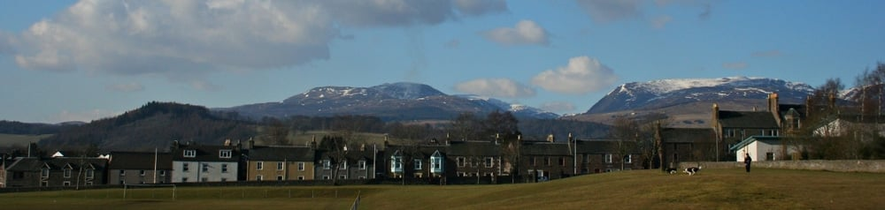 Glen Turret on the northern skyline from the edge of Crieff.