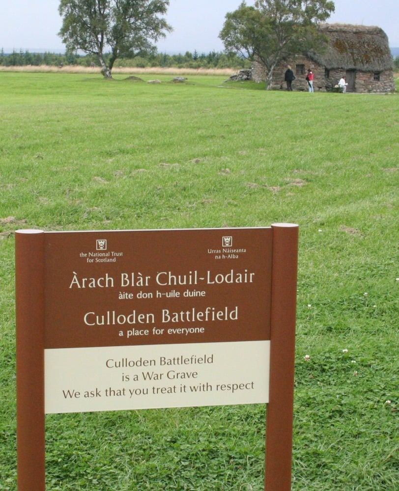 Culloden Battlefield is, strictly speaking, a war grave.