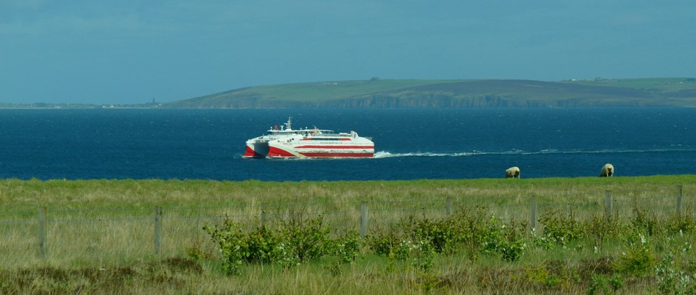 The Gills Bay (mainland Scotland) to St Margaret's Hope (mainland Orkney) ferry - and a very handsome beast she looks too.