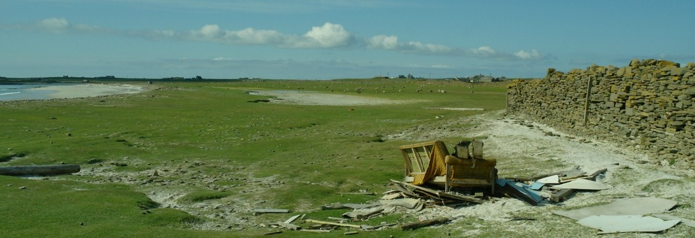 Old sofa on North Ronaldsay
