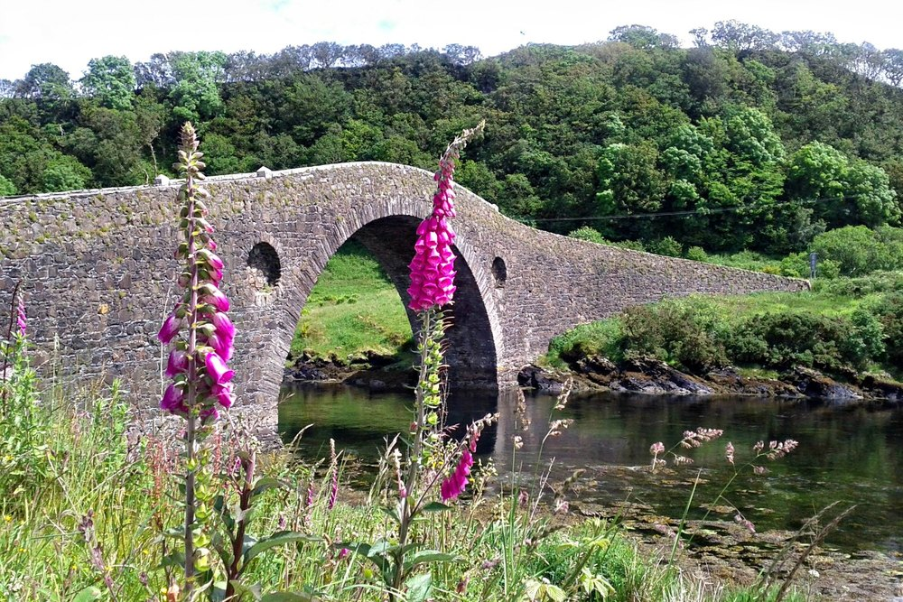 Clachan bridge linking the mainland with the isle of seil