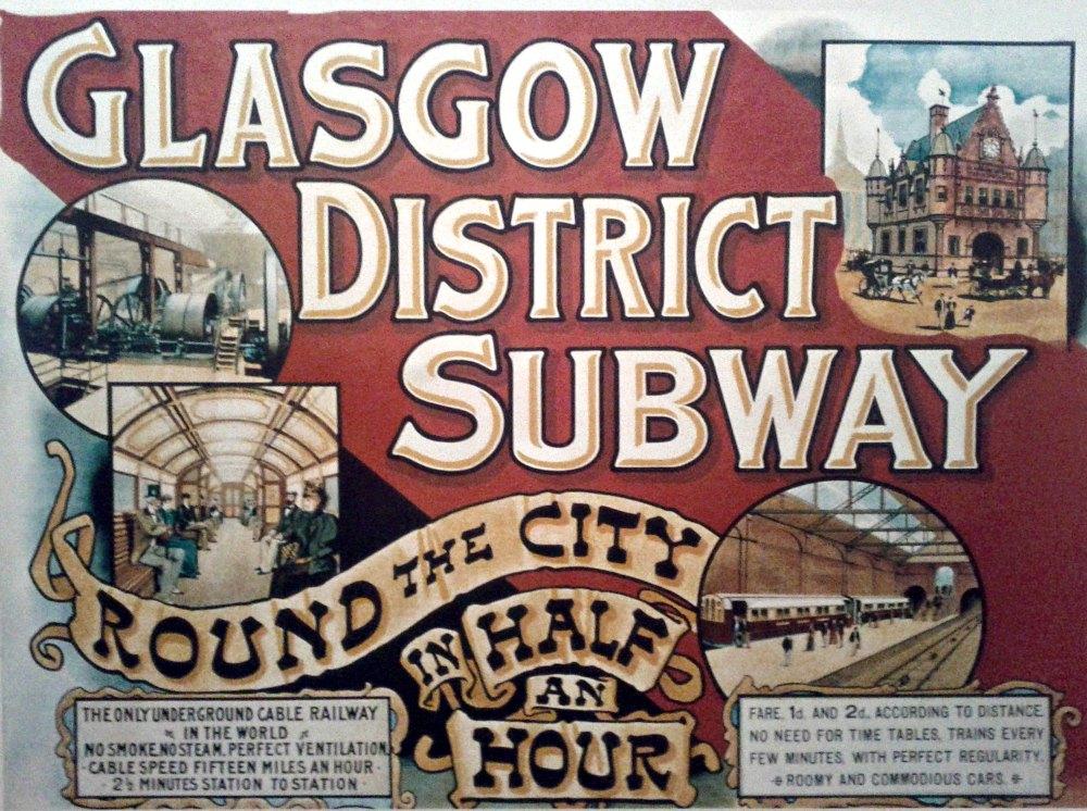 glasgow underground vintage poster