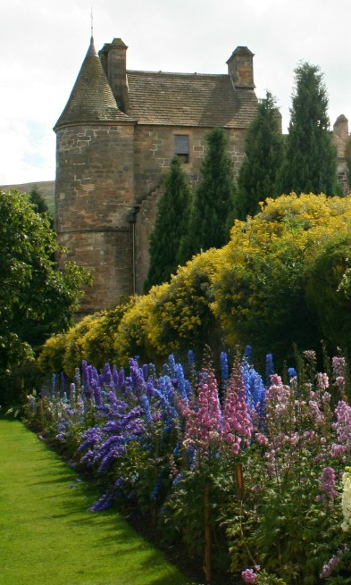 The gardens at Falkland Palace, Fife, hunting lodge of the Stuart monarchs