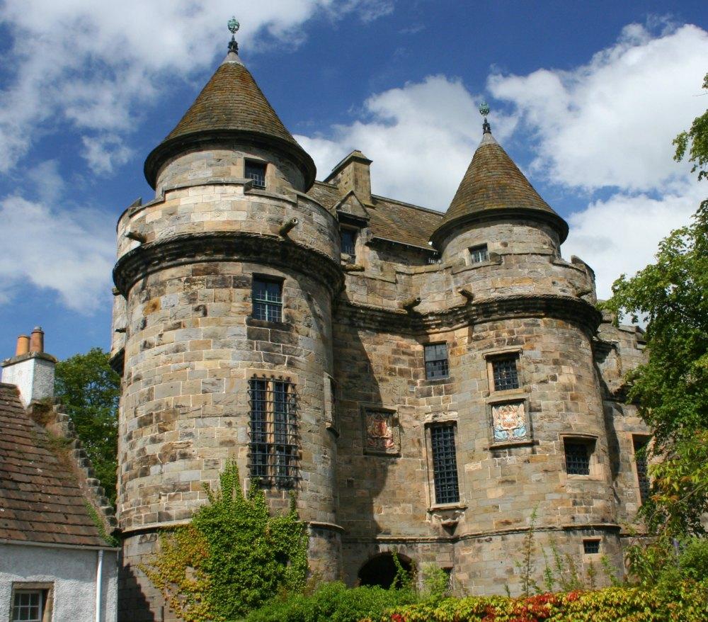 Falkland Palace, Fife. A former Stuart hunting lodge.