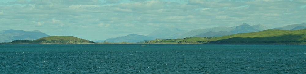 Looking north up Loch Linnhe, from the Mull ferry, with Ben Nevis on horizon.