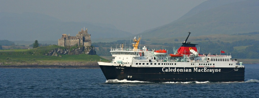 Duart Castle and the Mull ferry, Isle of Mull