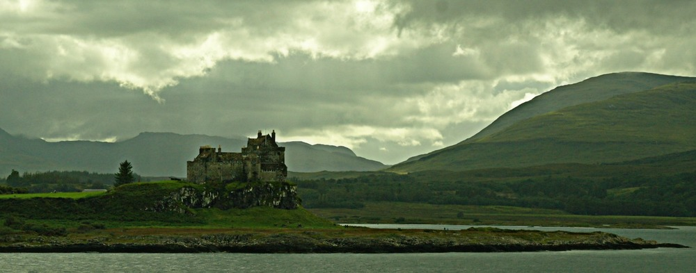 Duart Castle, view from the Mull ferry