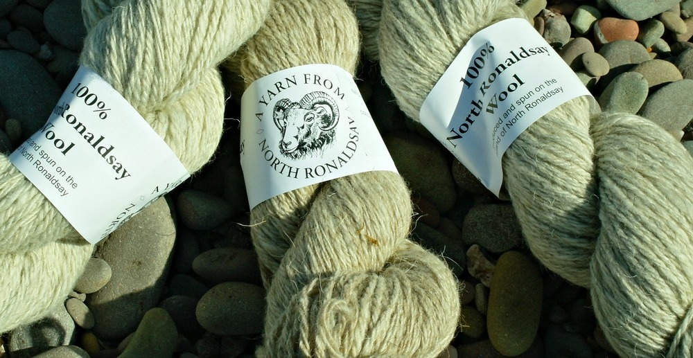 North Ronaldsay wool - spun on the island
