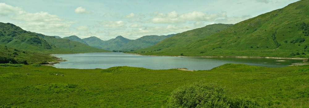 Loch Arklet, looking west to Arrochar Alps