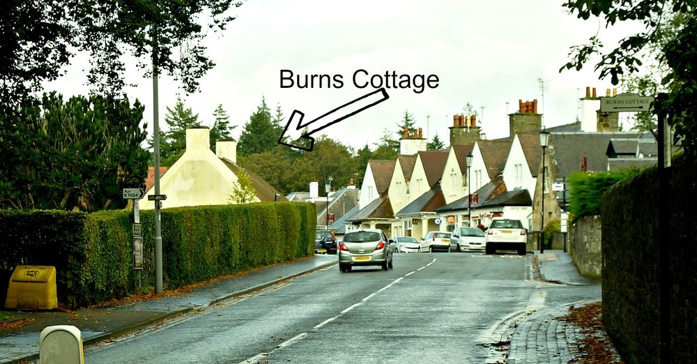 Burns Cottage location today in Alloway. What would Burns have said?