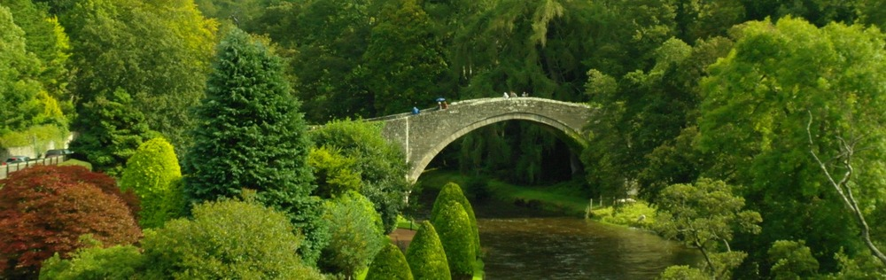 The Brig o Doon, Alloway, where Tam escaped the witches in the 'Tam o' Shanter' poem.