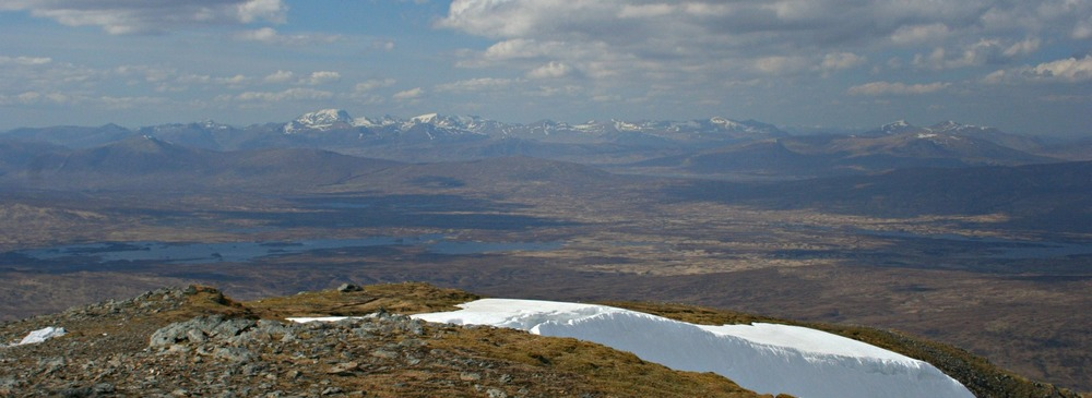 Looking down on Rannoch Moor from Beinn a Chreachain.