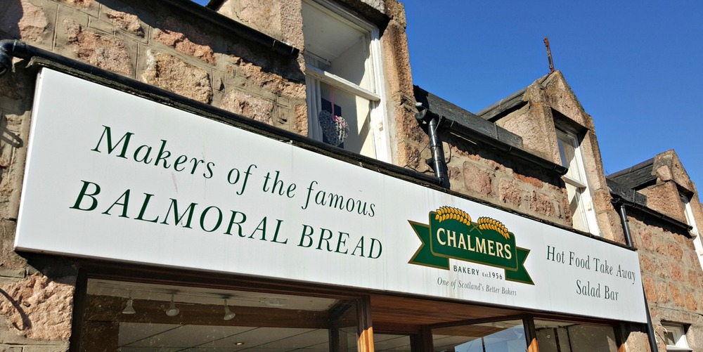 Chalmers Bakery in Ballater, Aberdeenshire. Balmoral Castle is nearby