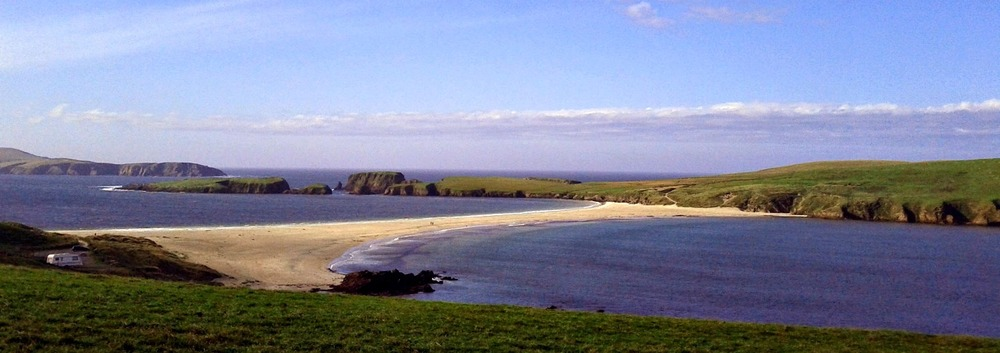 St Ninians Isle - one of the finest sand tombolos in Europe