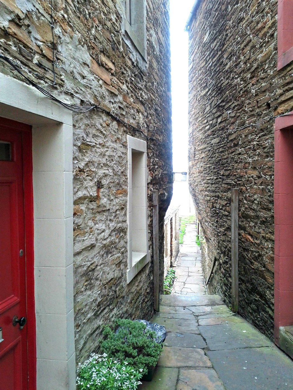 Many of the Stromness houses are built close together