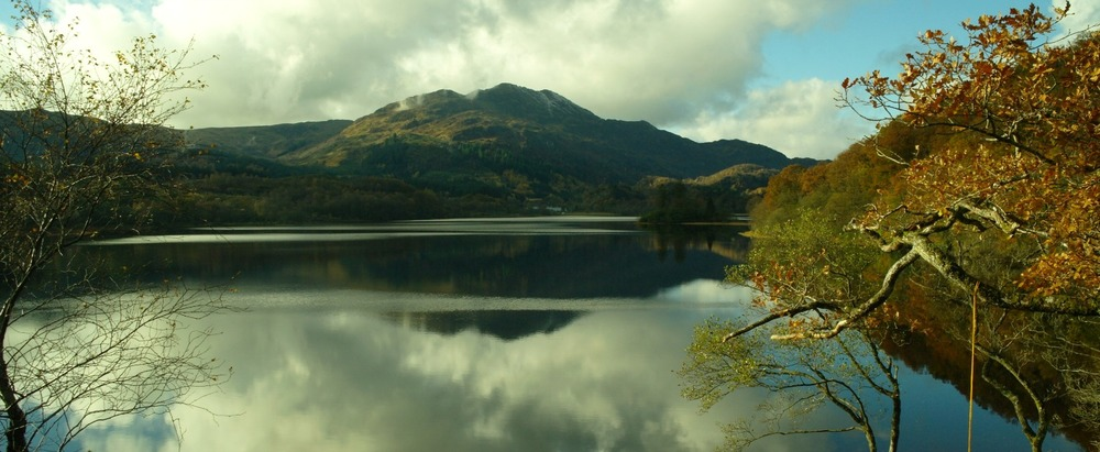 The Trossachs in autumn - Loch Achray and Ben Venue