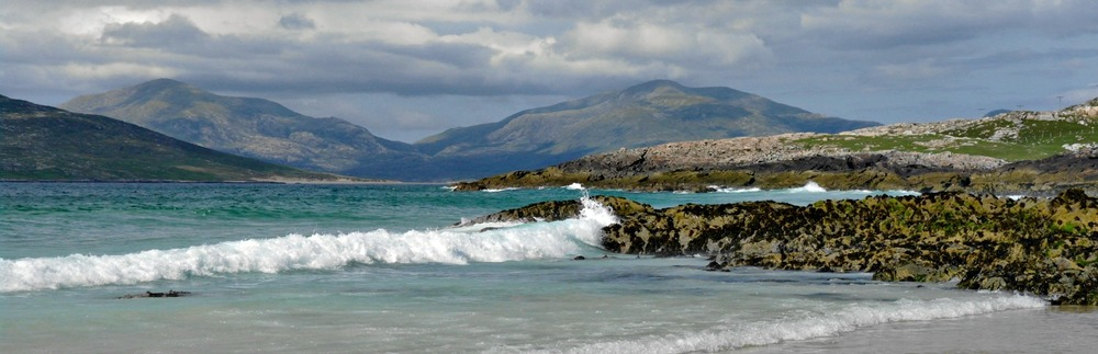 Mountains of North Harris - pictured from the west coast of the island.