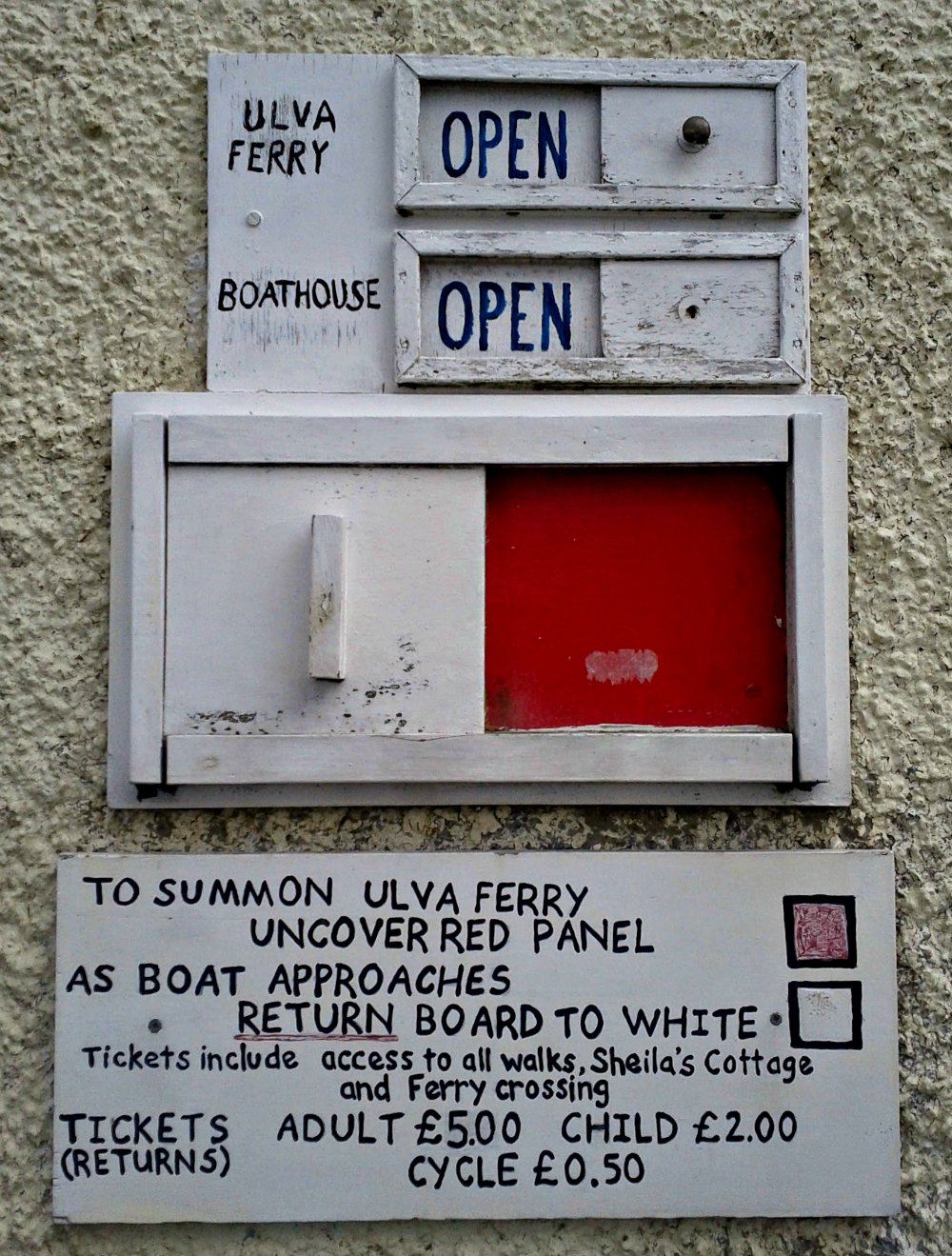 How to summon the Ulva ferry.