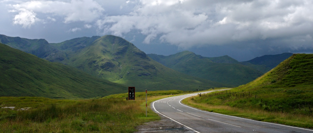 Eastern approaches, Glen Shiel, en route for the Isle of Skye and well on your way.