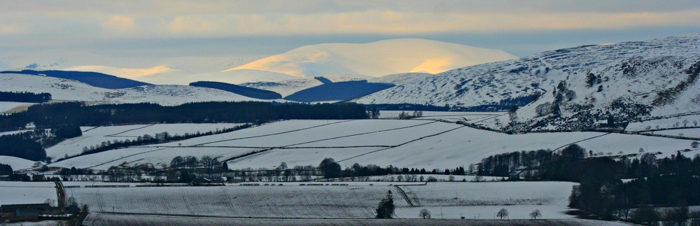 Grampian hills towards Glenshee, from north of Alyth