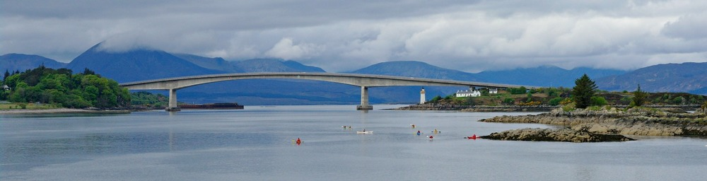 Skye Bridge from Kyle of Lochalsh railway pier