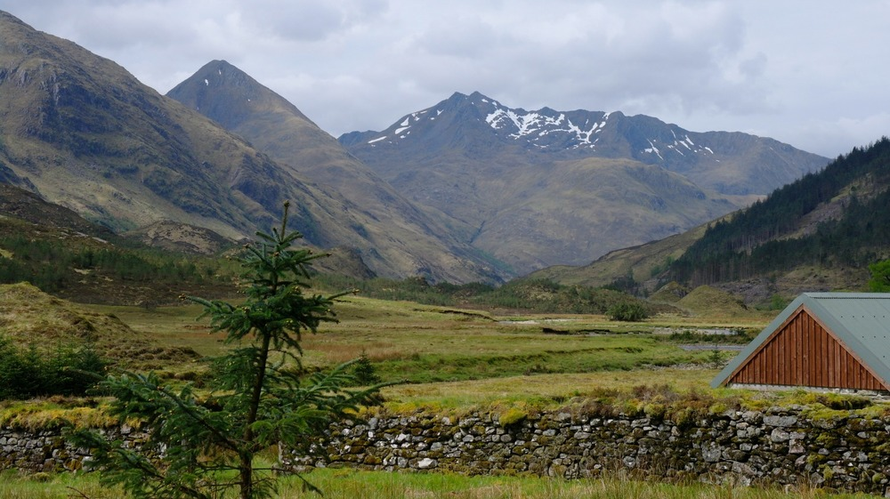 In Glen Shiel, late spring, on the road to Skye